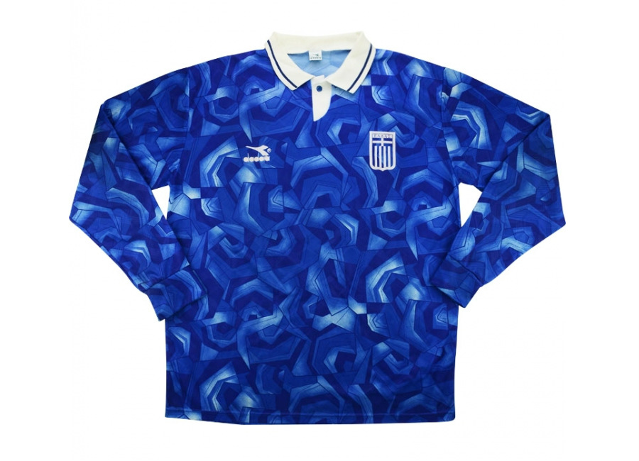 Diadora 1994 Greece Match Worn Home Shirt Kofidis