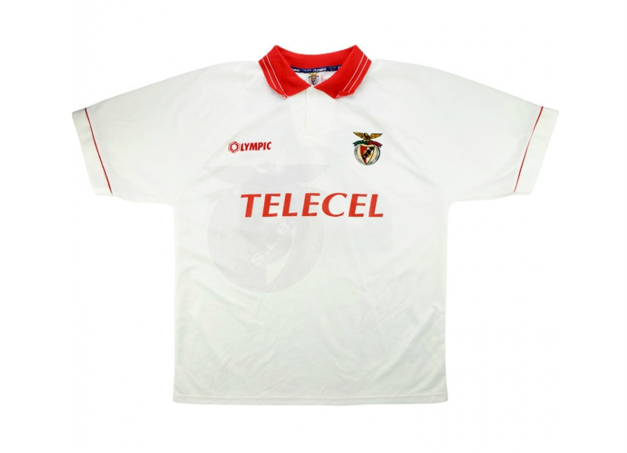 Olympic 1996 97 Benfica Match Issue Cup Winners Cup Away Shirt Ramires