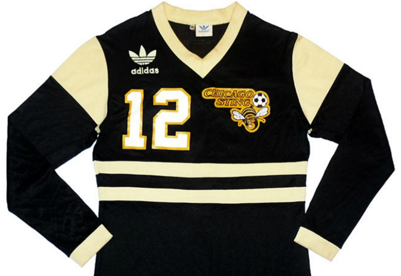 8b918097619 Adidas 1980 Chicago Sting Match Issue Away Shirt