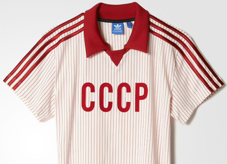 Adidas 1980s Soviet Union Away Retro Football Shirt