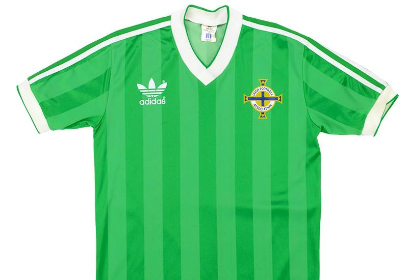Adidas 1983-85 Northern Ireland Home Shirt  e44939356