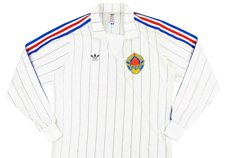 Adidas 1983 Yugoslavia Match Issue Away L S Shirt  944dc74b1