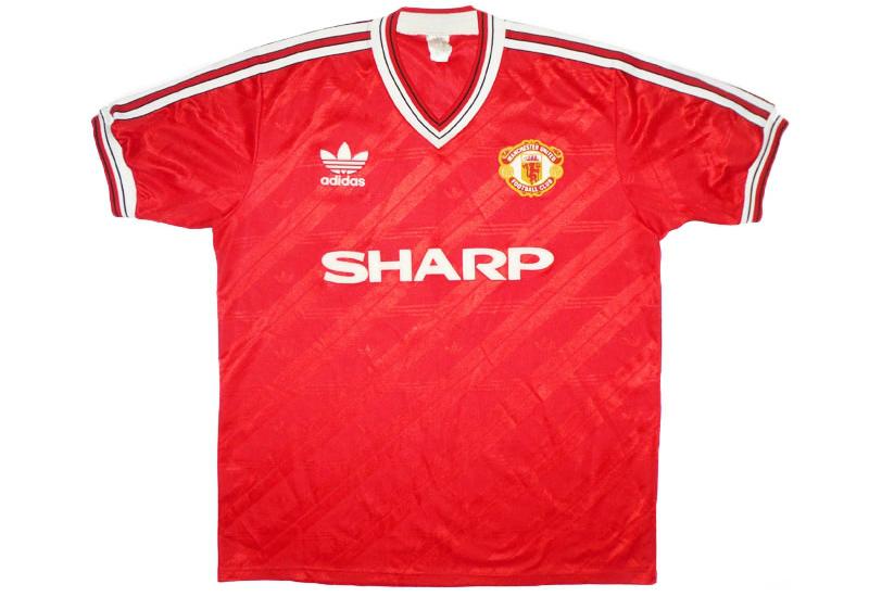 2c18aa950e6 Adidas 1986-88 Manchester United Home Shirt