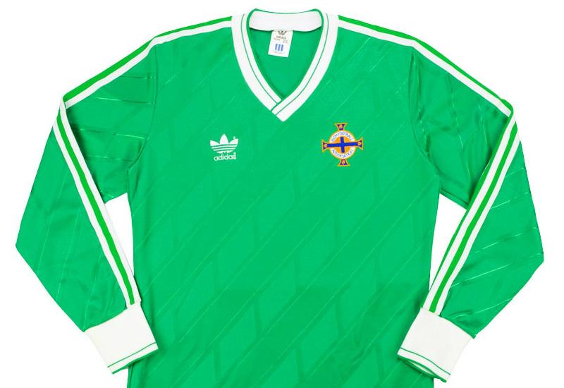 db74b6f913 Adidas 1986-88 Northern Ireland Match Issue Home Shirt | Vintage Football  Shirts | Football shirt blog
