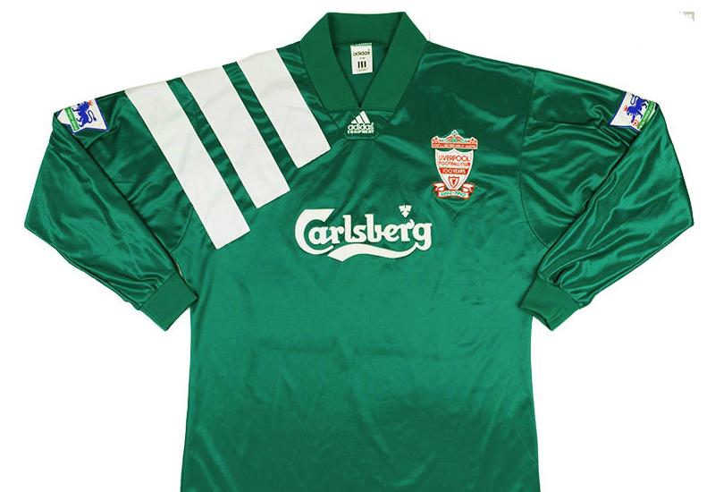 49a81569124 Adidas 1992-93 Liverpool Centenary Player Issue Away Shirt