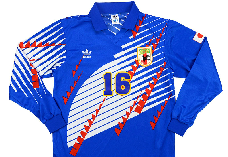 Adidas 1993 Japan Match Worn Home Shirt Vintage Football Shi