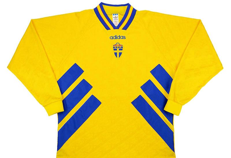 Adidas 1994-96 Sweden Home Shirt  7b5042bf0