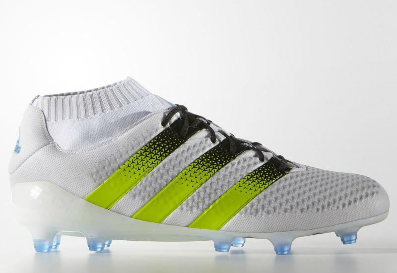 sports shoes cc1f8 2301e Adidas ACE 16.1 Primeknit Firm Artificial Ground Boots - White   Semi Solar  Slime   Shock Blue