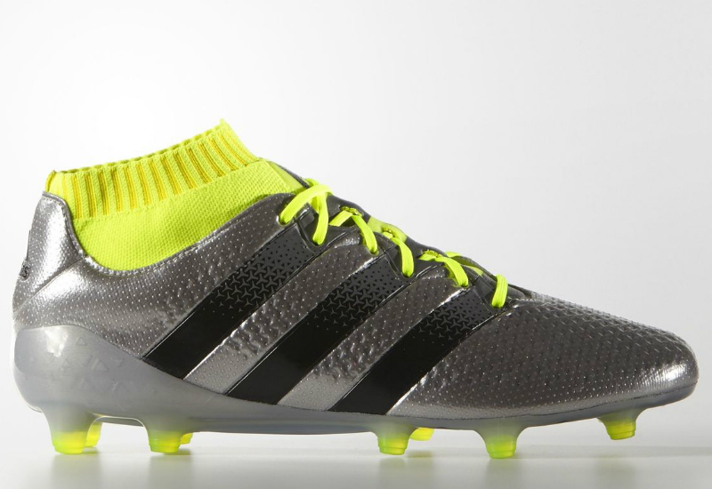 Adidas Ace 16 1 Primeknit Firm Ground Boots Silver Met Core Black Solar Yellow