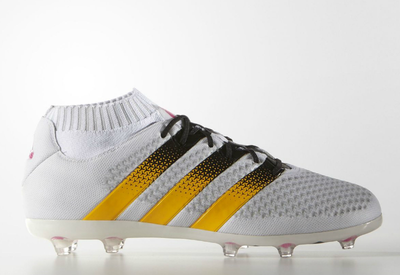 Adidas Ace 16 1 Primeknit Firm Ground Boots White Solar Gold Shock Pink