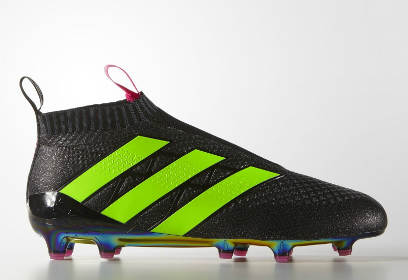 dc97158cb56d ... real adidas ace 16 purecontrol firm ground boots core black shock pink  solar green 5f4d5 75ed1