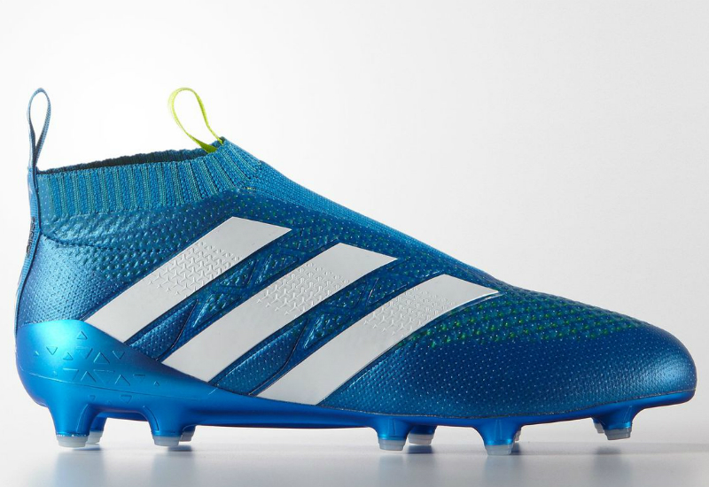 Adidas Ace 16 Purecontrol Firm Ground Boots Shock Blue Semi Solar Slime White