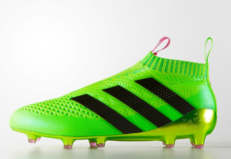 Adidas Ace 16 Purecontrol Firm Ground Boots Solar Green Shock Pink Core Black