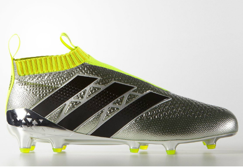 ec96424f8080 Adidas Ace 16 Purecontrol Primeknit Firm Ground Boots Silver Met Core Black  Solar Yellow