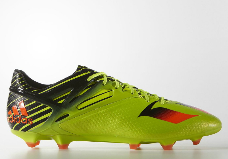 newest 6eec5 82a70 Adidas Messi 15.1 Firm Artificial Ground Boots - Semi Solar Slime   Solar  Red   Core Black