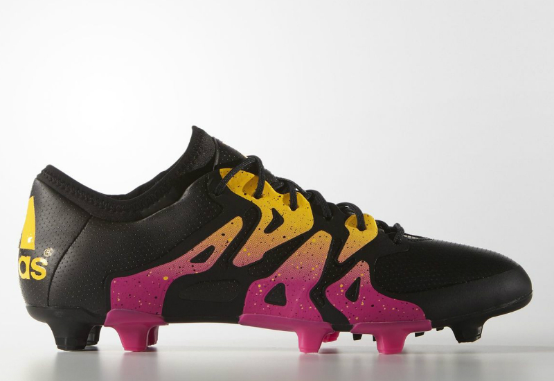 Adidas X 15 1 Firm Artificial Ground Boots Core Black Shock Pink Solar Gold