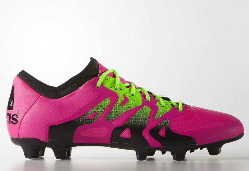 Adidas X 15 1 Firm Artificial Ground Boots Shock Pink Solar Green Core Black