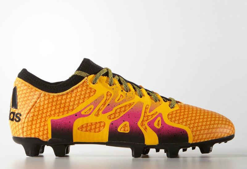 Adidas X15 1 Primeknit Firm Artificial Ground Boots Solar Gold Shock Pink Core Black