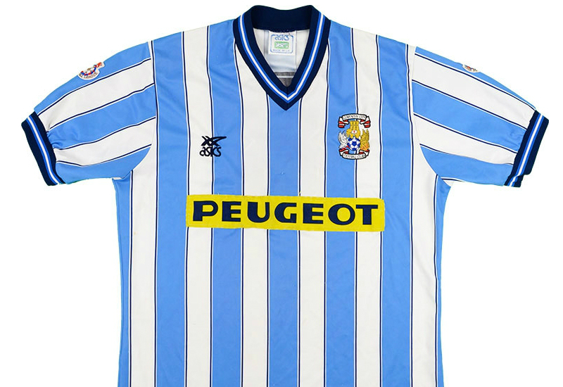 Asics 1989 1991 Coventry Match Issue Home Shirt