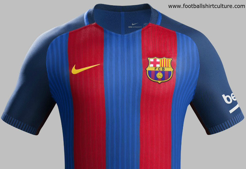 Barcelona 16 17 Nike Home Kit