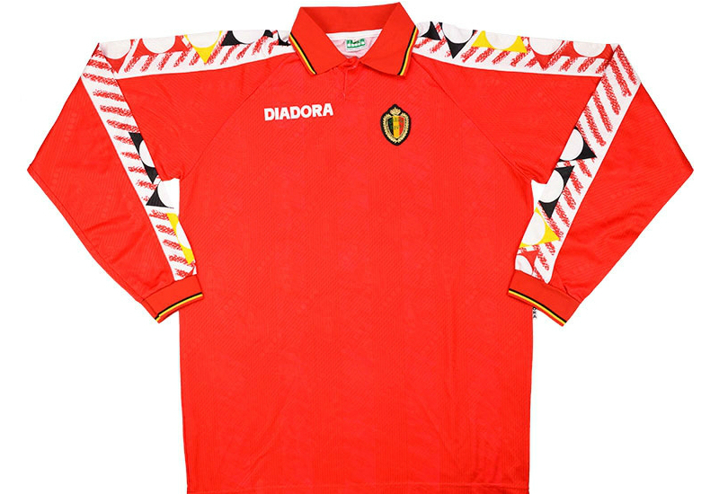 64ee00f02 Diadora 1994 95 Belgium Match Issue Home Shirt