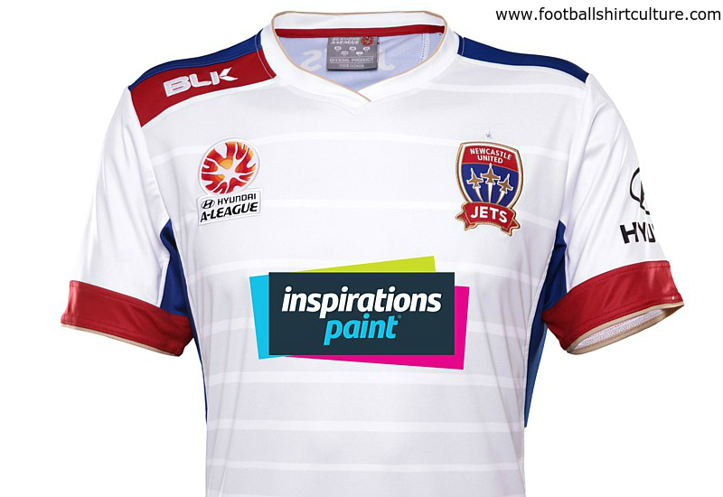 Newcastle Jets 2015 2016 Blk Away Football Shirt
