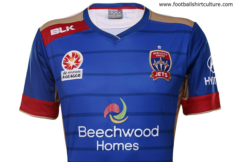 Newcastle Jets 2015 2016 Blk Home Football Shirt