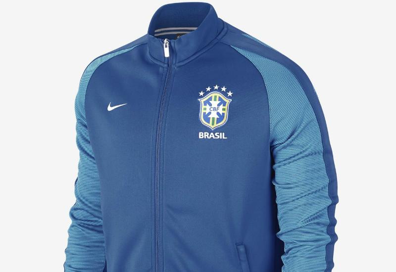 Boys Brazil CBF Authentic N98 Varsity Royal/White