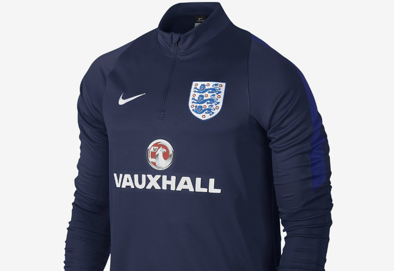 Nike england drill midnight navy midnight navy deep for Navy blue and white nike shirt