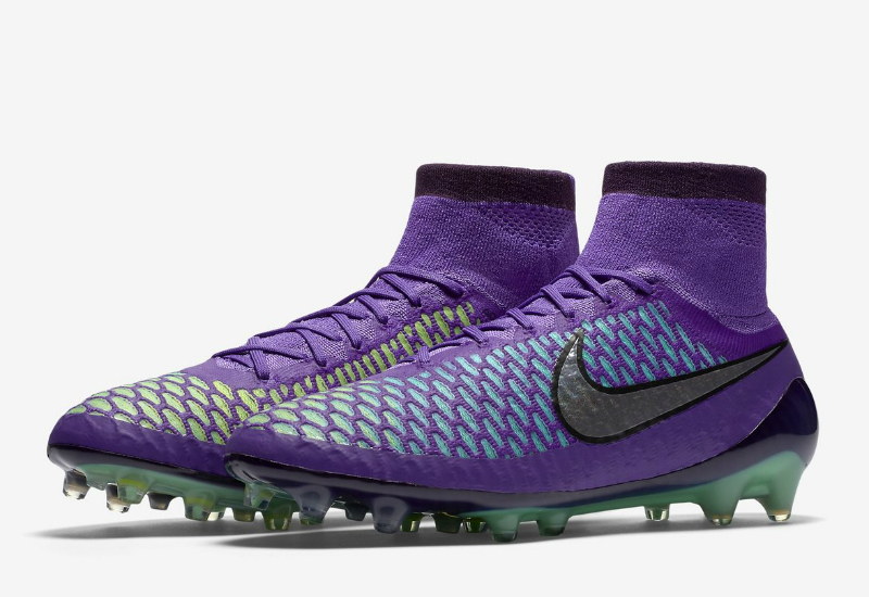 save off ef3a1 ca306 Nike Magista Obra Fg Metal Flash Pack Hyper Grape Fierce Purple Green Glow Metallic  Silver
