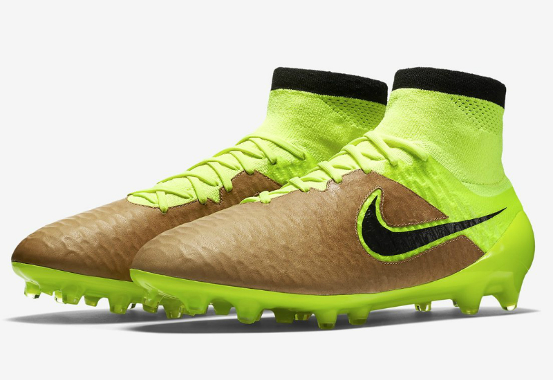 Nike Magista Obra Leather Fg Tech Craft Canvas Volt Black