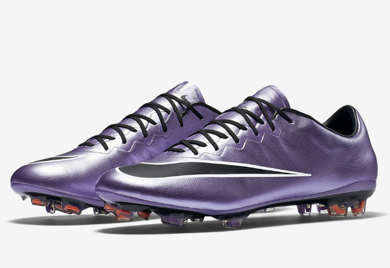 Nike Mercurial Vapor X Fg Liquid Chrome Pack Urban Lilac Bright Mango Black