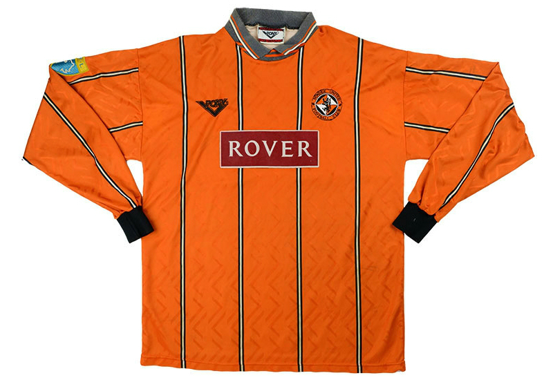 Pony 1994-96 Dundee United Match Worn Home Shirt   Vintage