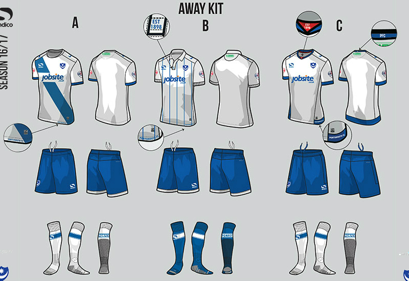 Portsmouth 2016 2017 Sondico Away Kit Vote