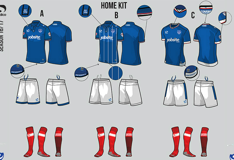 Portsmouth 2016 2017 Sondico Home Kit Vote