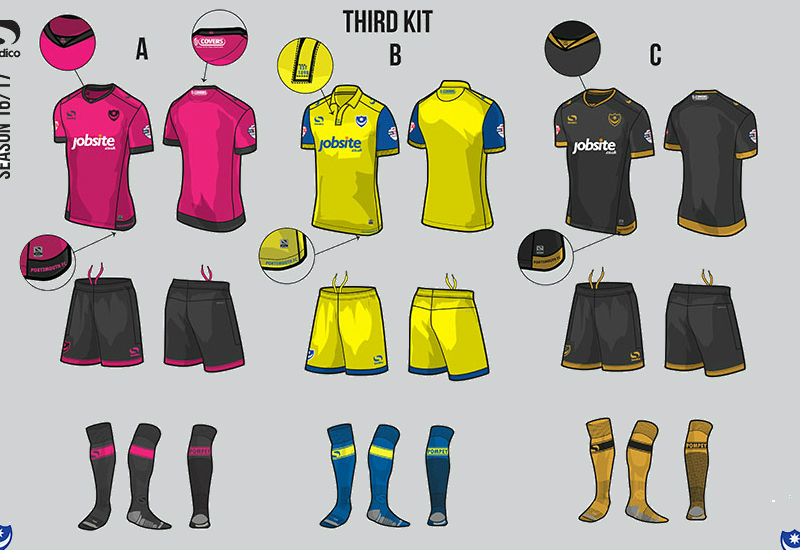 Portsmouth 2016 2017 Sondico Third Kit Vote