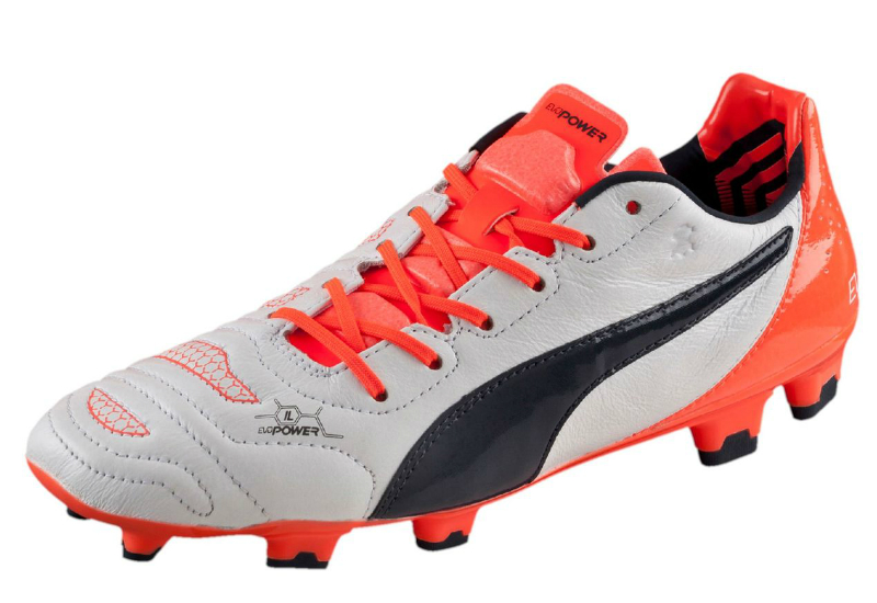 Puma Evopower 1 2 L Fg Football Boots White Total Eclipse Lava Blast