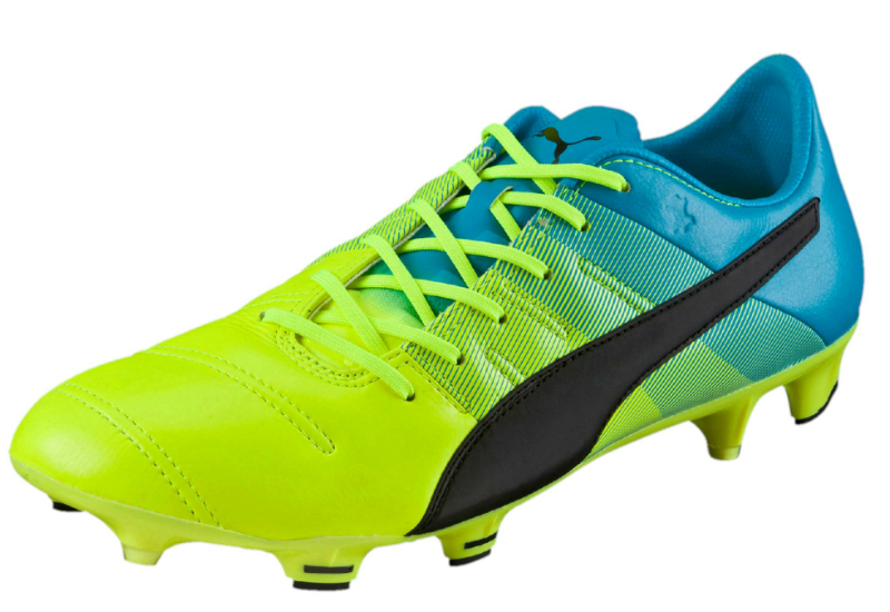 Puma Evopower 1 3 Leather Fg Safety Yellow Black Atomic Blue