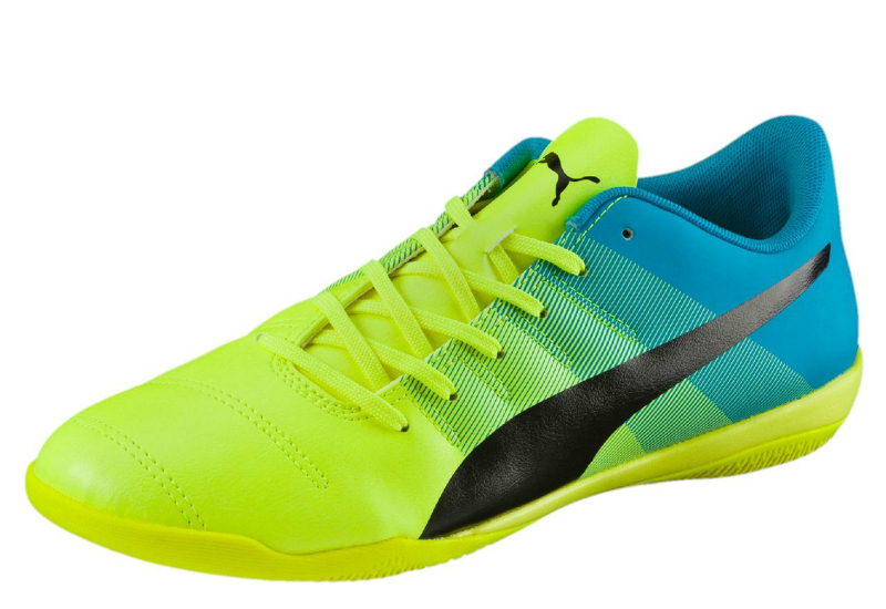 5990082ca Puma Evopower 4.3 IT Indoor Training Shoes - Safety Yellow   Black   Atomic  Blue