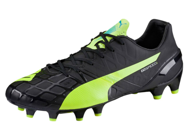 Puma Evospeed 1 4 Fg Football Boots Black Safety Yellow White