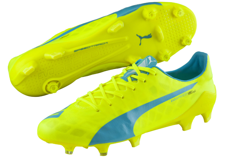 Puma Evospeed Sl Fg Football Boots Safety Yellow Atomic Blue White