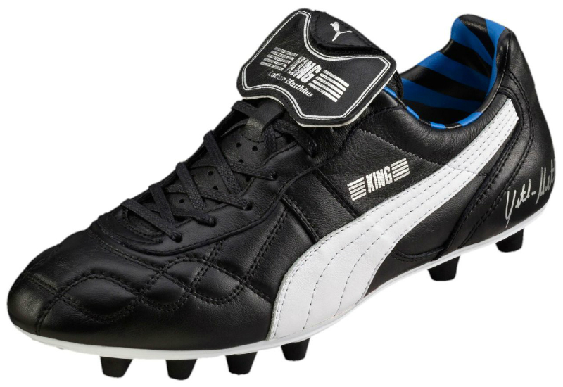 Puma King Lothar Matthaus Football Boots Black Puma Silver Blue