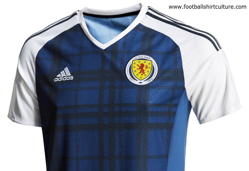 Scotland 2016 Adidas Home Football Shirt