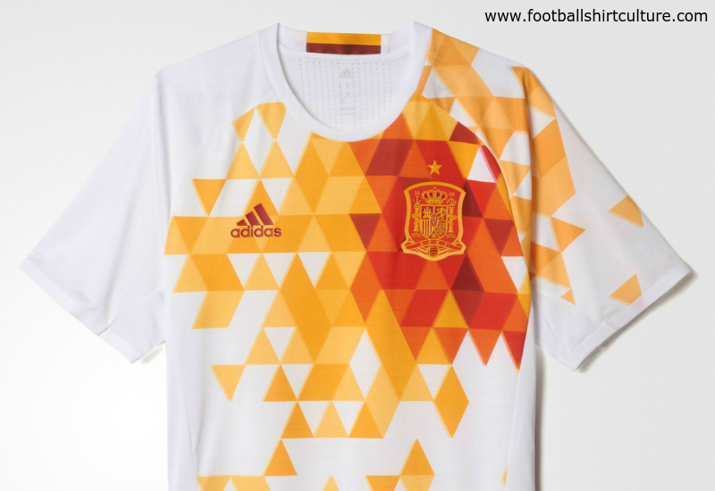 Spain Euro 2016 Adidas Away Football Shirt