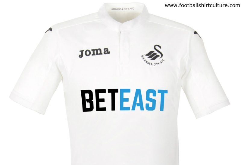 The Swansea City have unveiled their new Joma home kit for the 2016-17  season. 0169dd4f1