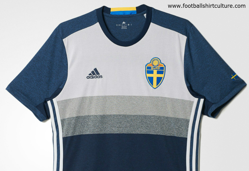 Sweden 2016 Adidas Away Football Shirt