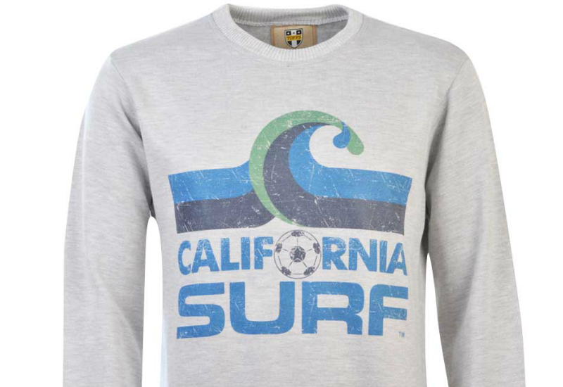 Toffs California Surf Sweatshirt Light Grey