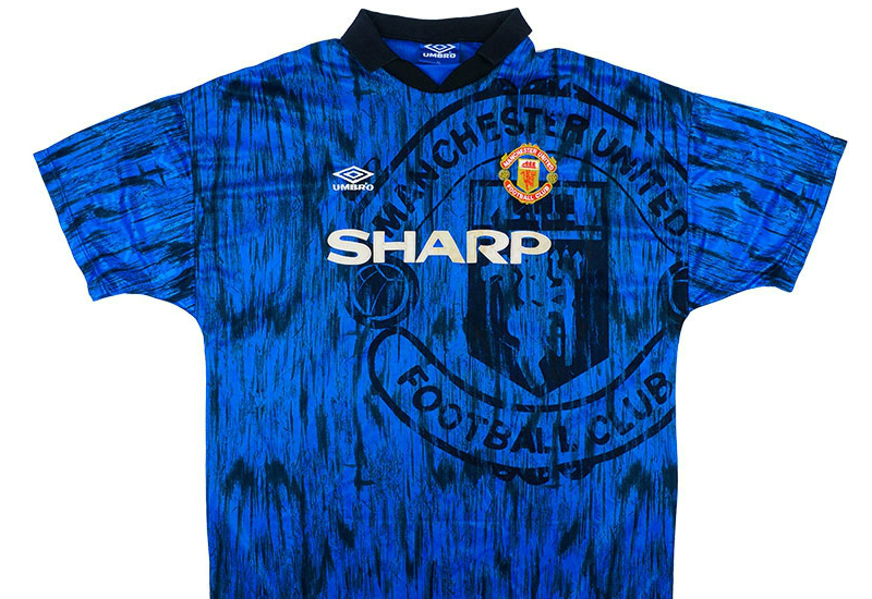 low priced 4c998 a7f55 Umbro 1992-93 Manchester United Match Issue Away Shirt ...