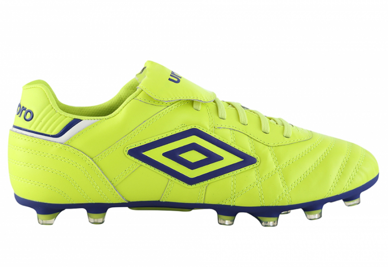 Umbro Speciali Eternal Hg Football Boots Safety Yellow Clematis Blue