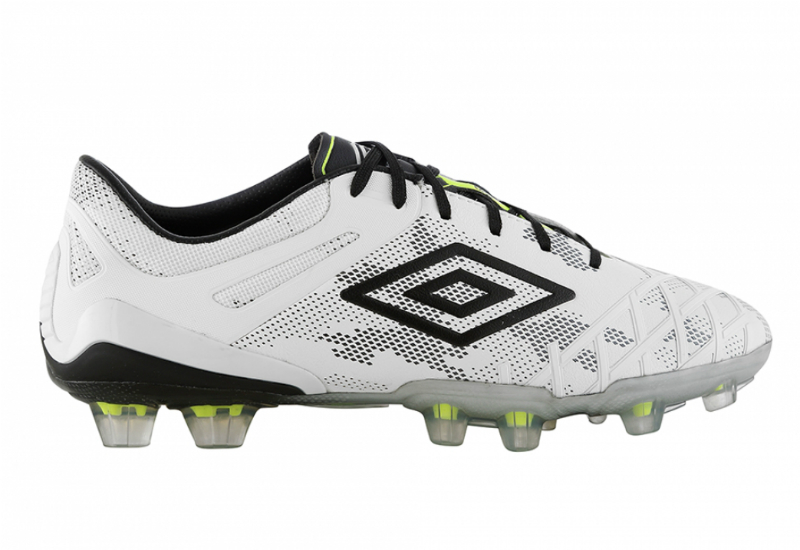 Umbro Ux 2 Pro Hg Football Boots White Black Safety Yellow